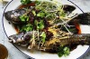 Steamed Murray Cod with red chilli oil - the oil represents fire in the 2016 Chinese zodiac <a ...