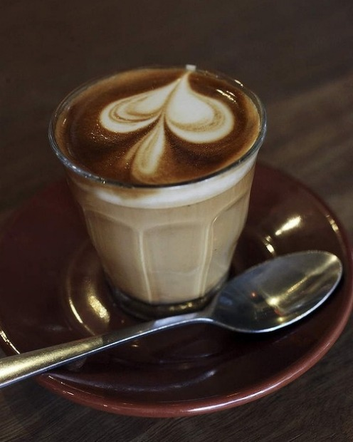 A coffee from Grind Espresso in Cronulla.