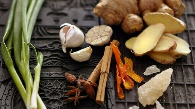 Ingredients for Chinese master stock.