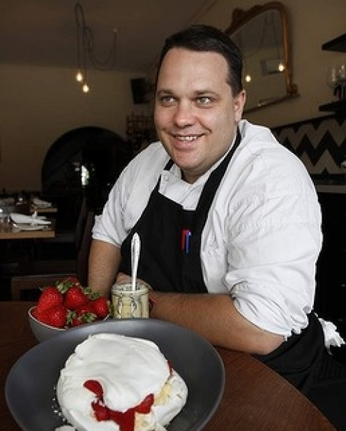 15. Rob Kabboord of Merricote and his delicious, foolproof pavlova.Dig in!