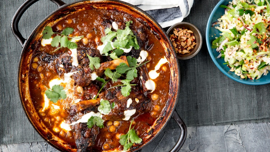 Spice things up: Add some lamb shanks to your shopping trolley and make this curry.