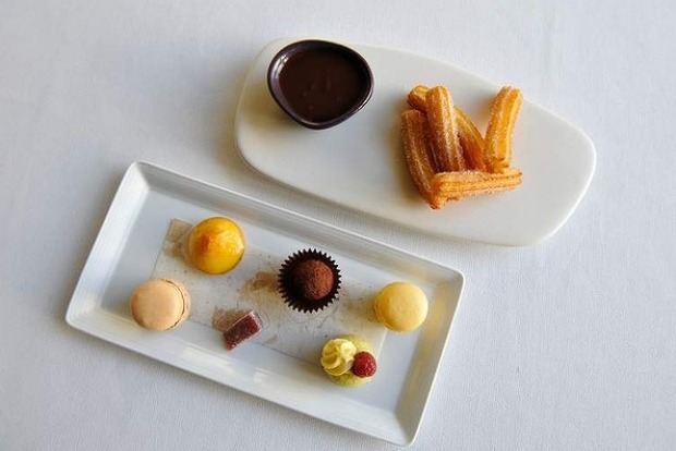 Degustation menu at Jacques Reymond. Course ten...Petits fours and spiced churros.