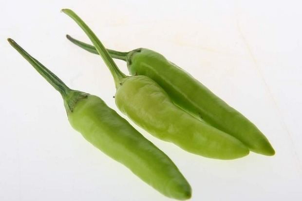 Unripe bird's eye chillies have an intense sting.