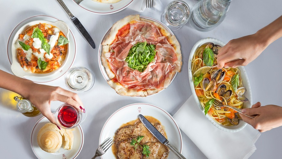 Some of the classic Cipriani dishes on offer at Mr C Restaurant in Beverly Hills.