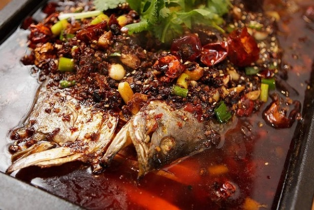 Barramundi with chilli, Sichuan peppers and cumin  at Dainty Fish & Grill Co in Clayton.