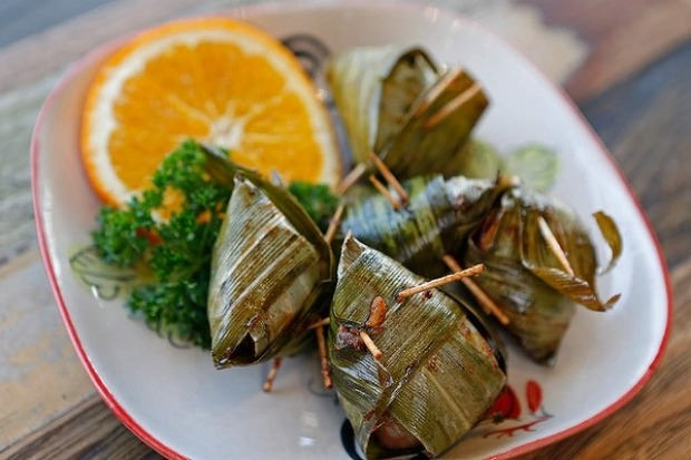 22 Gai Hor Bai Toey (deep fried chicken wrapped in pandan leaves) at Thaiger Rabbit Thai in Abbotsford