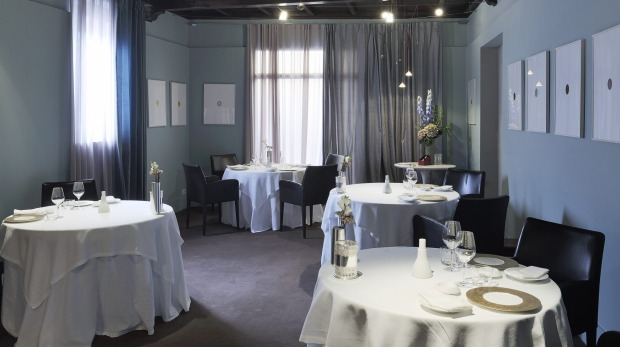 One of the three dining rooms at Osteria Francescana.