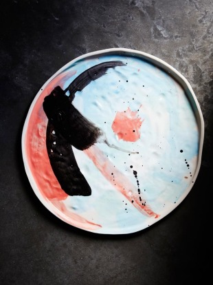 Platter matter: Each piece in Melbourne ceramist, Kaz Morton's, new range of platters is hand-painted. Unique works of ...
