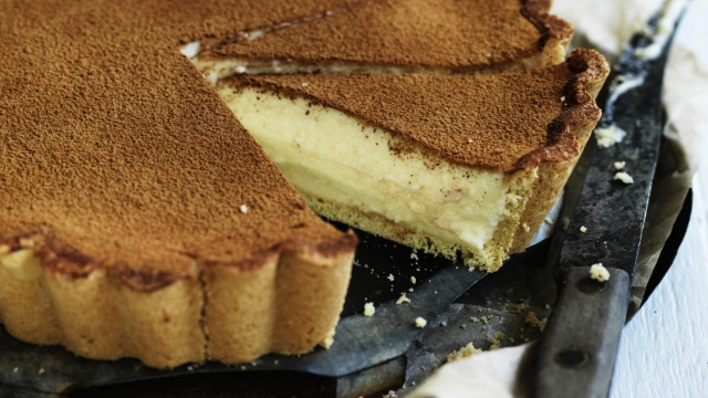 Ready to fall in love? Adam Liaw's custard tart.