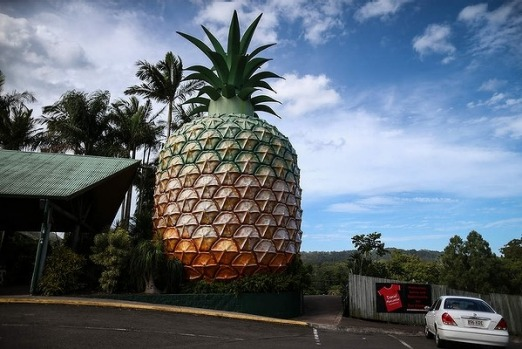 The Big Pineapple in Woombye on Queensland's Sunshine Coast.