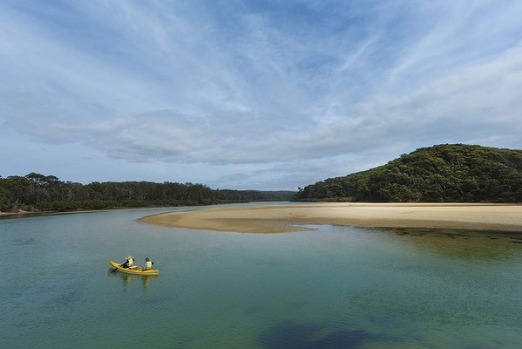 Paddle on Bithry Inlet, at Mimosa Rocks National Park, New South Wales.