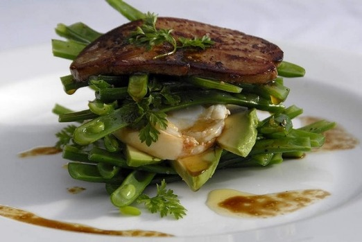Lobster foi gras salad from Rick Stein at Bannisters.