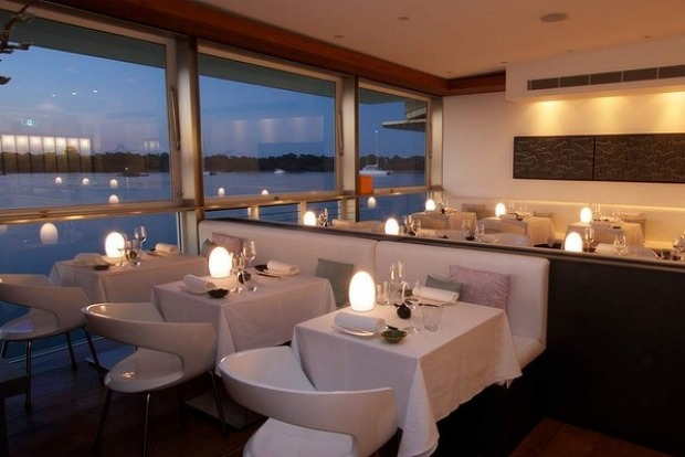 Waterfront dining at Wasabi restaurant.