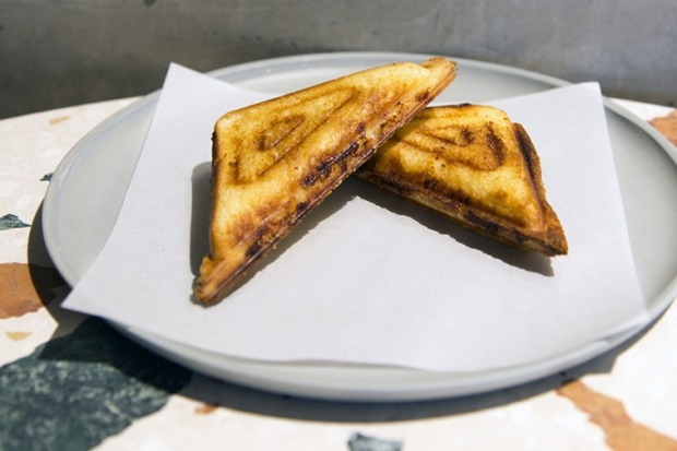 Yabby jaffle from Monster Kitchen & Bar, Canberra.