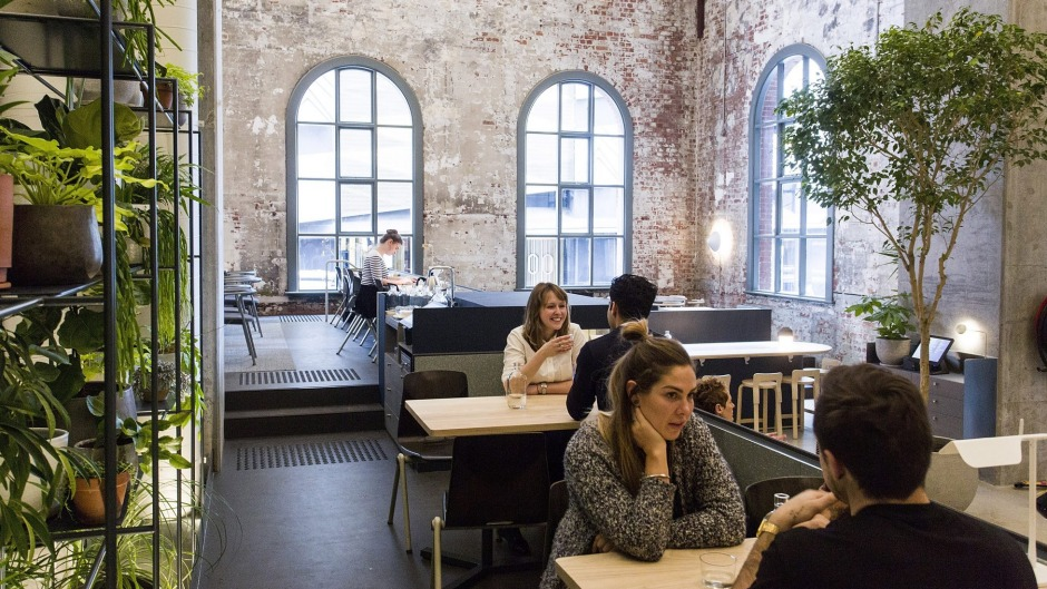 Higher Ground cafe is housed in a former powerhouse.