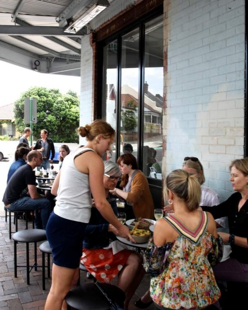 Al fresco at West Juliett in Marrickville.