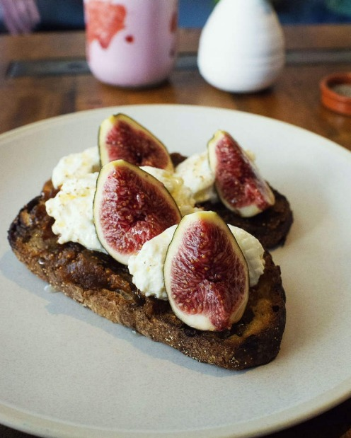 Figs in toast at Heritage Coffee Brewers, Summer Hill.