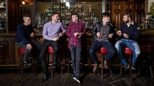 Brisbane Times Good Food Guide 2017 Young Chef of the Year Finalists at The Gresham bar (from left to right: Angus ...