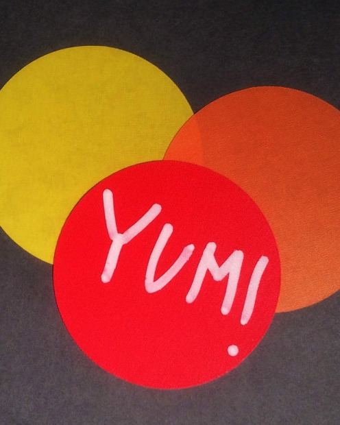 Bright idea: Liven up your white platters with removable wall dots. Each canape gets a new coloured sticker. Pen the ...