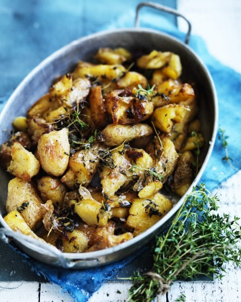 Twice-cooked kipfler potatoes. <a ...