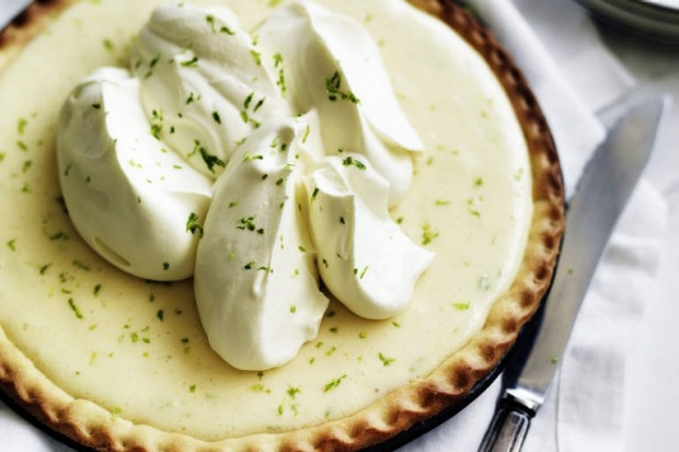"Neil Perry's key lime pie. <a href=""http://www.goodfood.com.au/recipes/key-lime-pie-20120507-29tzc""><b>(Recipe here).</b></a>"