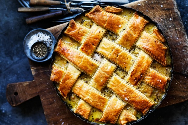 CORN: Dan Lepard's chicken pie with tarragon, corn and vermouth <a ...