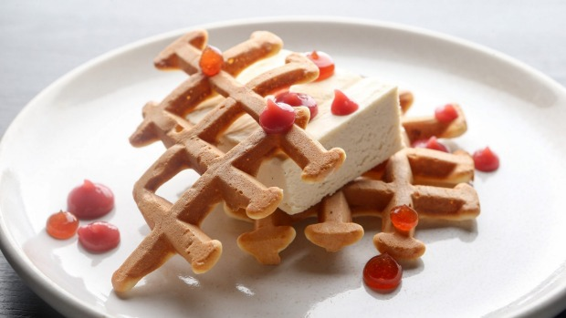 The botrytis parfait with waffle grids, and port and sauternes gel from Sth Central.