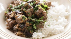 Traditional favourite: Lamb and eggplant khoresh.