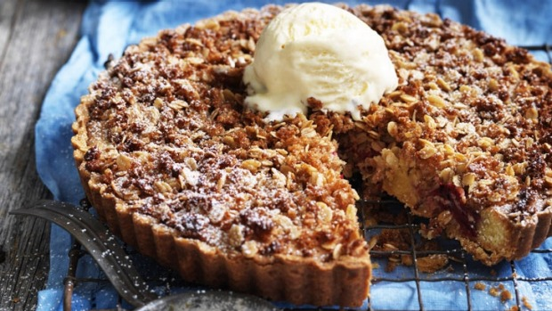 This crumble dessert is far simpler to make than it looks.
