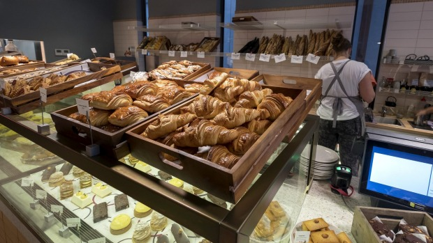 Pastries are made using French flour.