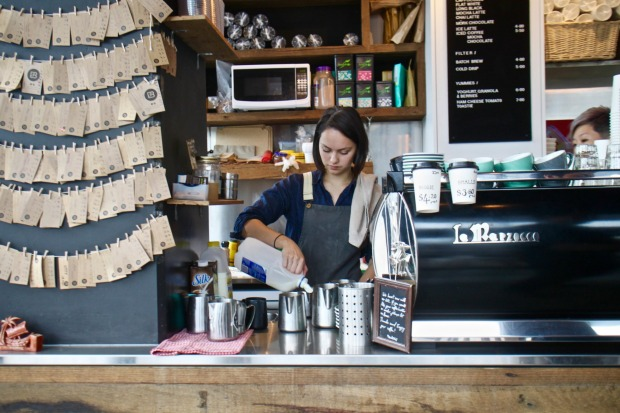Black Flat coffee is conveniently located near the train station.