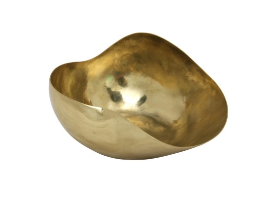 Hunt & Gather Medium Seed Pod Bowl – Brass, $210.00, www.dinosaurdesigns.com.au