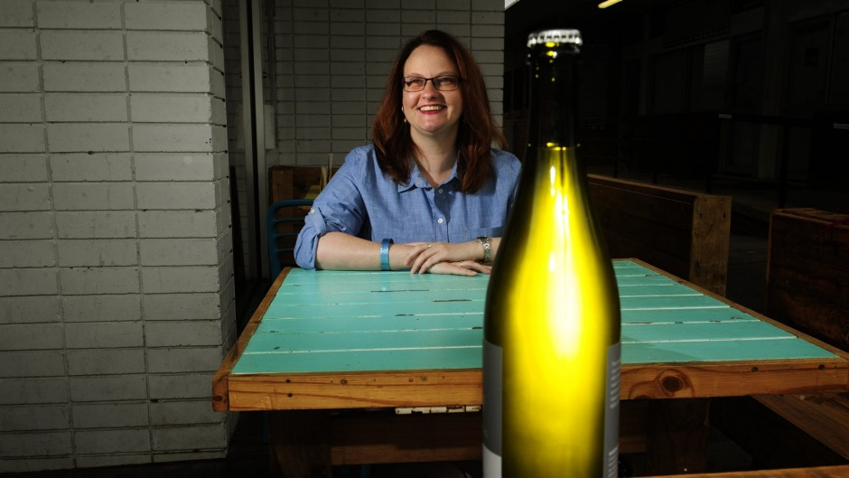 Sassafras Wines partner Tammy Braybook with the  savagnin ancestral.