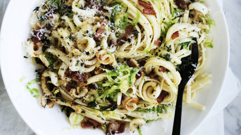 Adam Liaw's squid and thyme linguine.
