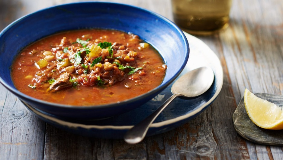 Olivia Andrews' slow cooker recipe Moroccan harira soup.