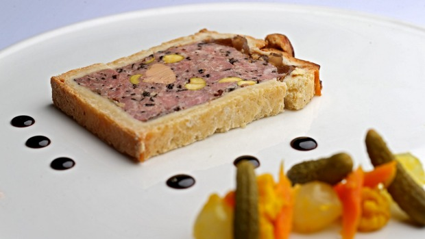 Pate perfection: Pate en croute is plated with precision.