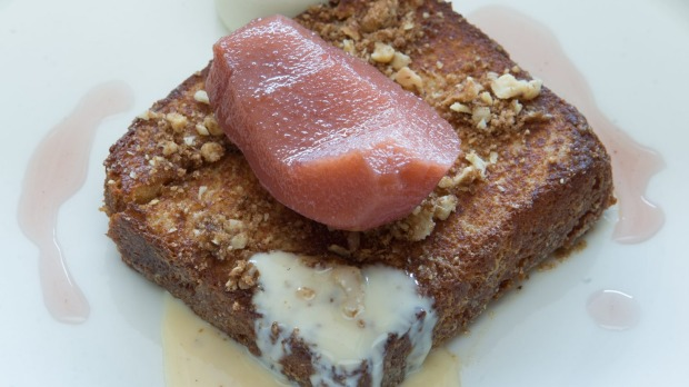 Ideal brunch spot: Babajan's baklava pain perdu.