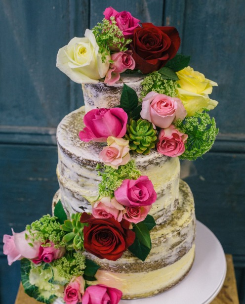 My Little Panda Kitchens wedding cakes have a rustic,