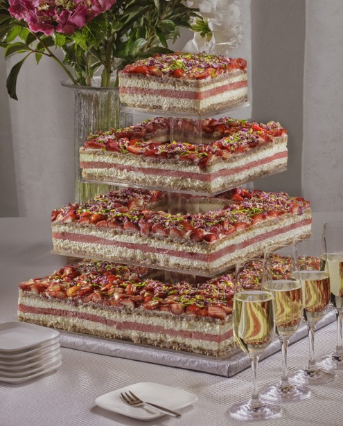 Black Star Pastry's popular strawberry and watermelon cake was originally created as a wedding cake.