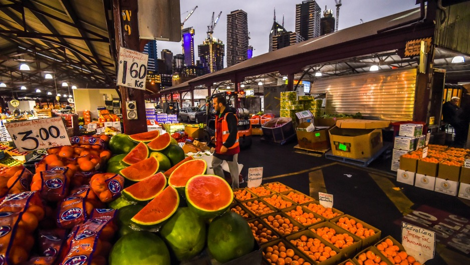 An early start at Melbourne's Queen Victoria Market.