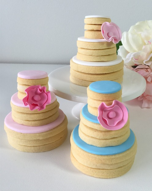 Wedding cake stacks by Sweetcheeks.