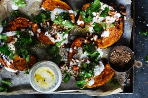 Neil Perry recipe for Good Food, Epicure Styling Hannah Meppem Spice roast pumpkin