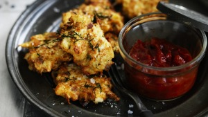 Neil Perry's cauliflower fritters.