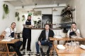 Head chef Regan Porteous and co-head chef Gabriel Valenti, owner Michael Fegent and co-head chef Matt Taylor Watkins of ...