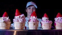 Ekka's famous strawberry sundae is on the menu again.