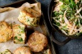 Fish cakes and slaw recipe.