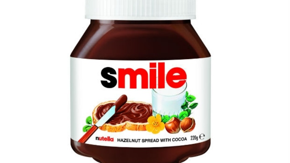 Nutella Smile Jar