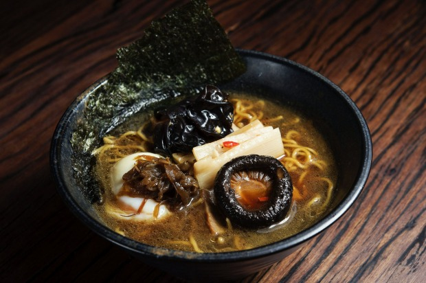 The 'darkness' ramen at Rising Sun Workshop.