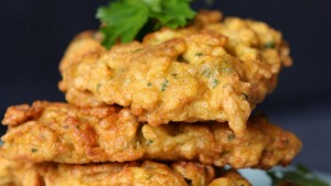 Simple, anytime food: Pumpkin fritters.