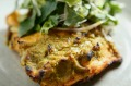 MELBOURNE, AUSTRALIA - AUGUST 18: The Tandoori salmon with mint and wombok salad prepared by Chef Adam D'Sylva served at ...